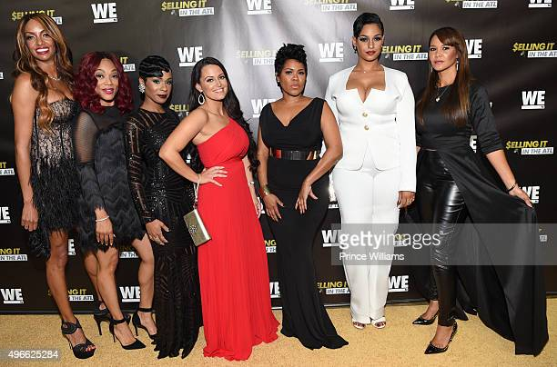 Chrishena Stanley A'Lana Banks Jae Christian Sarah Lowe Okevia Wilson Tahlia Brown and Gwen Moss attend WE tv Selling It In the ATL Premiere at...