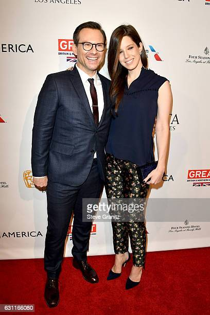 Chrisitan Slater and Brittany Lopez attend The BAFTA Tea Party at Four Seasons Hotel Los Angeles at Beverly Hills on January 7, 2017 in Los Angeles,...