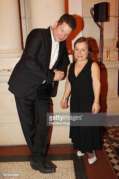 Chrisitne Ursprung Und Ehemann Tobias Materna Bei Der Ard Blue Hour Opening Party Bei Der 60 Berlinale In Berlin