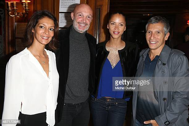 Chrislaure Nollet Franck Leboeuf Noemi Lenoir and Naghi attend the Nathalie Garcon Cocktail Party In Paris on October 13 2014 in Paris France