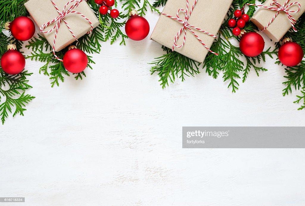 Weihnachts-Hintergrund : Stock-Foto