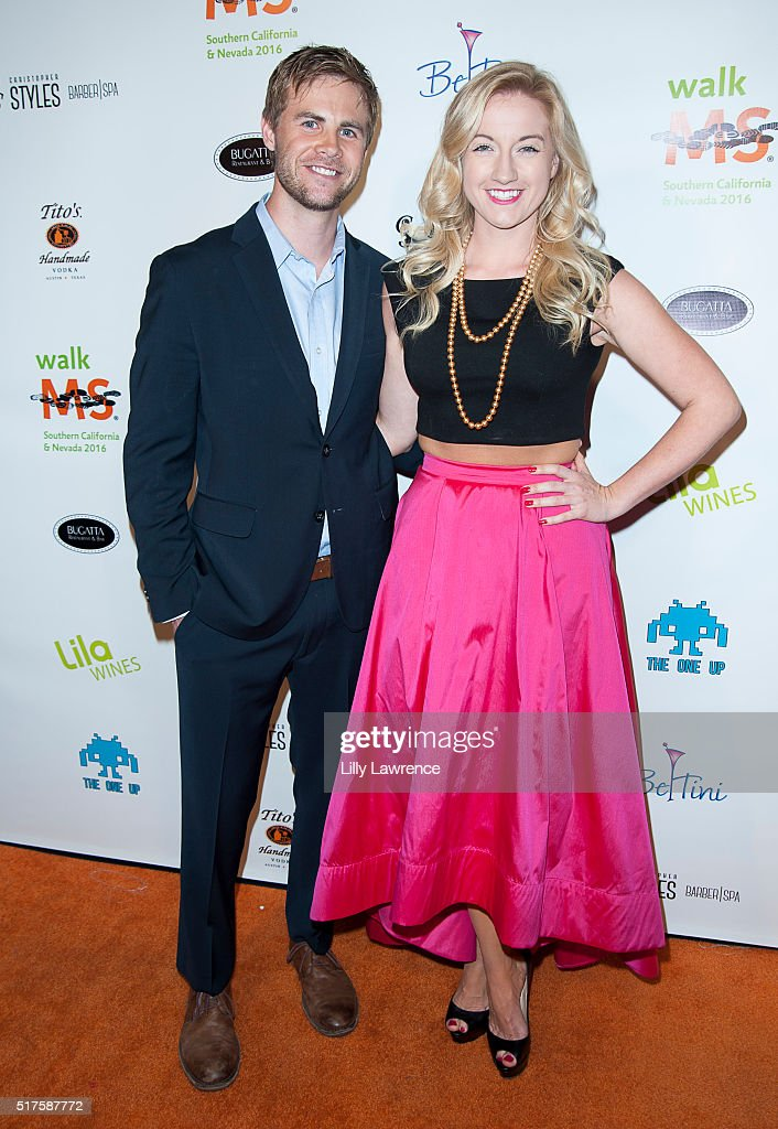 Chrisopher Dietrick and Laura Linda Bradley attend 3rd Annual LA's Walk MS Celebrity Kickoff Event at Bugatta Supper Club on March 25, 2016 in Los Angeles, California.