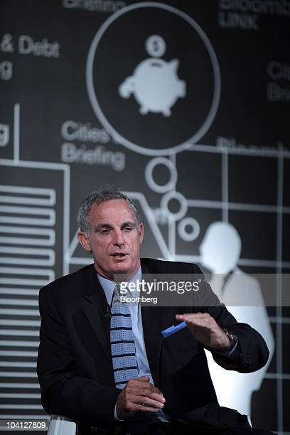 Chriss Street treasurer and tax collector for Orange County California speaks during the Bloomberg Cities And Debt Briefing Conference in New York US...