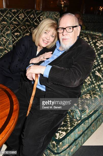 Chrissie Blake and Sir Peter Blake attend a preopening dinner hosted by Kate Bryan at Zobler's Delicatessen at The Ned London on April 25 2017 in...