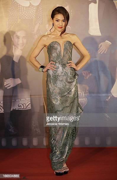 Chrissie Chau SauNa on the red carpet at the 2013 Hong Kong Film Awards on April 13 2013 in Hong Kong Hong Kong