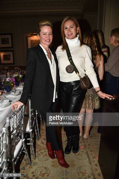 Chrissie Erpf and Inga Rubenstein attend Beauty And Brains Dinner Hosted By Dr Macrene Alexiades Celebrating The Launch Of Macrene Actives at...