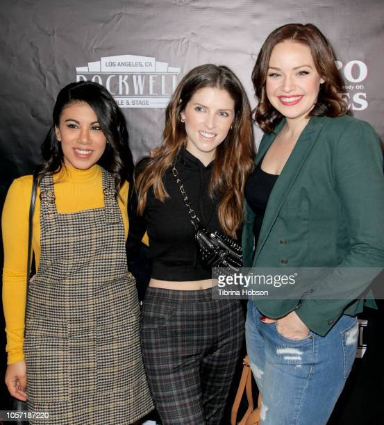 Chrissie Fit Anna Kendrick and Shelley Regner attend 'The Unauthorized Parody Of Stranger Things' at Rockwell Table and Stage on November 3 2018 in...