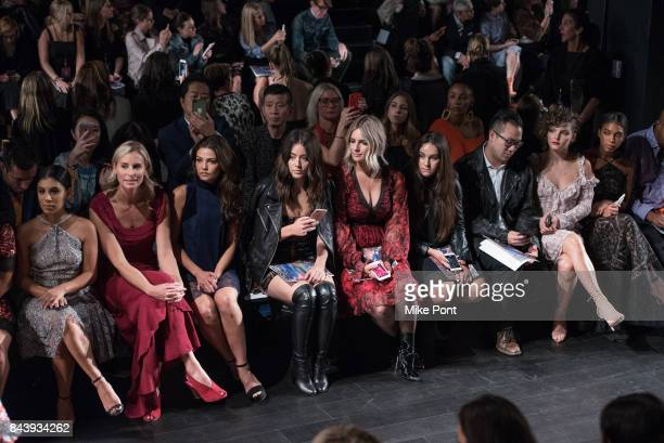 Chrissie Fit Niki Taylor Danielle Campbell Chloe Bennet Sonia Young Camren Bicondova and Lori Harvey attend the Tadashi Shoji fashion show at Gallery...