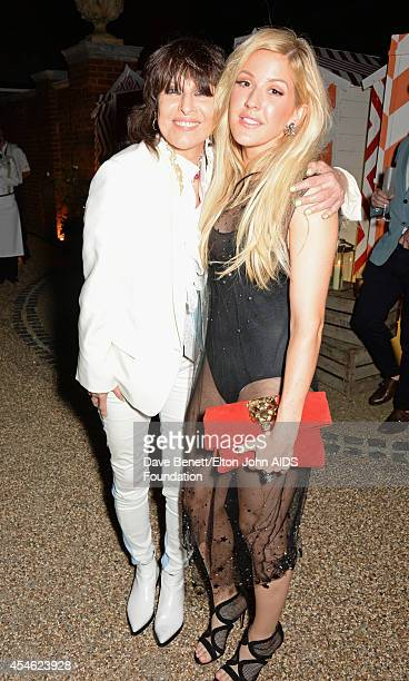 Chrissie Hynde and Ellie Goulding attend the Woodside End of Summer party to benefit the Elton John AIDS Foundation sponsored by Chopard and Grey...