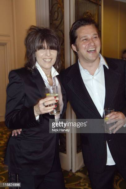 Chrissie Hynde and guest during Smokey Robinson's 50th Anniversary All Star Salute – Inside at Grosvenor House in London Great Britain