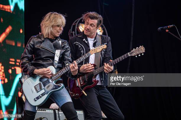 Chrissie Hynde and James Walbourne from The Pretenders on stage at OverOslo on June 21 2019 in Oslo Norway