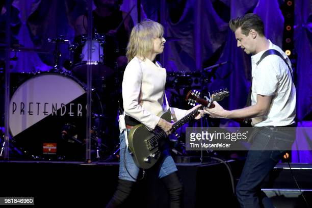 Chrissie Hynde and James Walbourne of The Pretenders perform at The Masonic Auditorium on June 22 2018 in San Francisco California