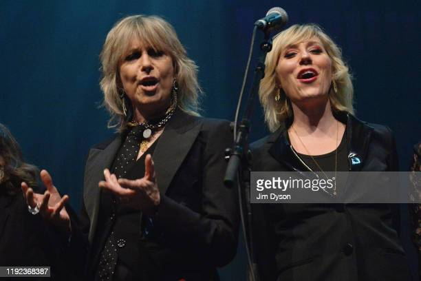 Chrissie Hynde and Martha Wainwright perform during Rufus Martha Wainwright's 'A Not So Silent Night' at The Royal Festival Hall on December 06 2019...