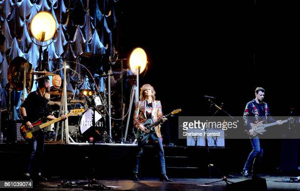 Chrissie Hynde and Martin Chambers of The Pretenders perform live on stage at O2 Apollo Manchester on October 13, 2017 in Manchester, England.