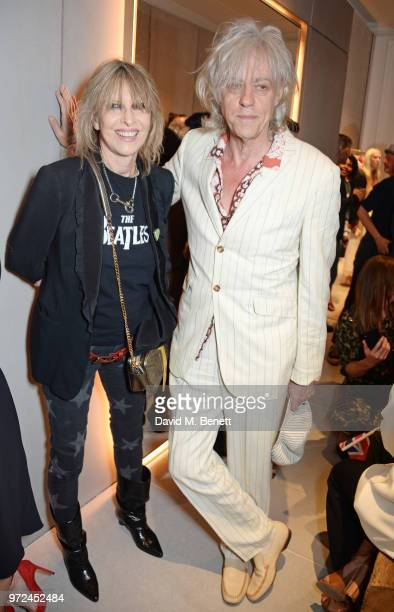 Chrissie Hynde and Sir Bob Geldof attend the launch of the Stella McCartney Global flagship store on Old Bond Street on June 12 2018 in London England