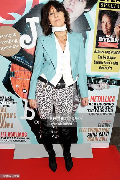 Chrissie Hynde arrives at The Q Awards at The Grosvenor House Hotel on October 21 2013 in London England