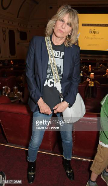 Chrissie Hynde attends a private screening of Yellow Submarine hosted by Stella McCartney to celebrate the upcoming launch of the 'All Together Now'...