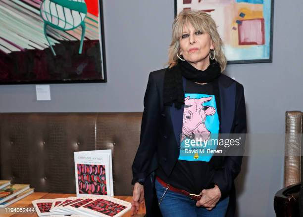 Chrissie Hynde attends the launch of Chrissie Hynde's The Sanctum Collection at the Karma Sanctum Soho hotel on January 16 2020 in London England