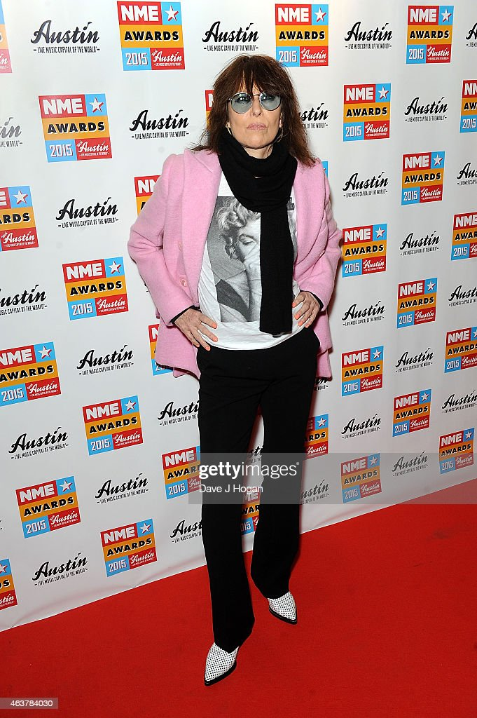 Chrissie Hynde attends the NME Awards at Brixton Academy on February 18, 2015 in London, England.