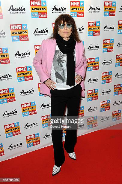 Chrissie Hynde attends the NME Awards at Brixton Academy on February 18 2015 in London England