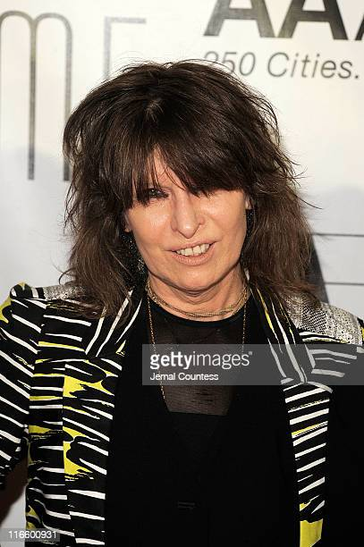 Chrissie Hynde attends the Songwriters Hall of Fame 42nd Annual Induction and Awards at The New York Marriott Marquis Hotel Shubert Alley on June 16...