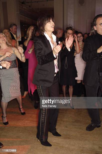 Chrissie Hynde during Smokey Robinson's 50th Anniversary All Star Salute – Inside at Grosvenor House in London Great Britain
