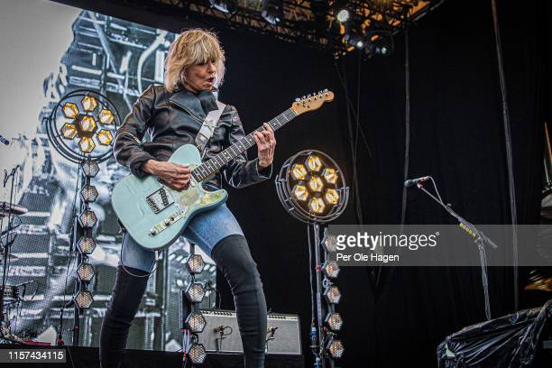 Chrissie Hynde from The Pretenders on stage at OverOslo on June 21 2019 in Oslo Norway