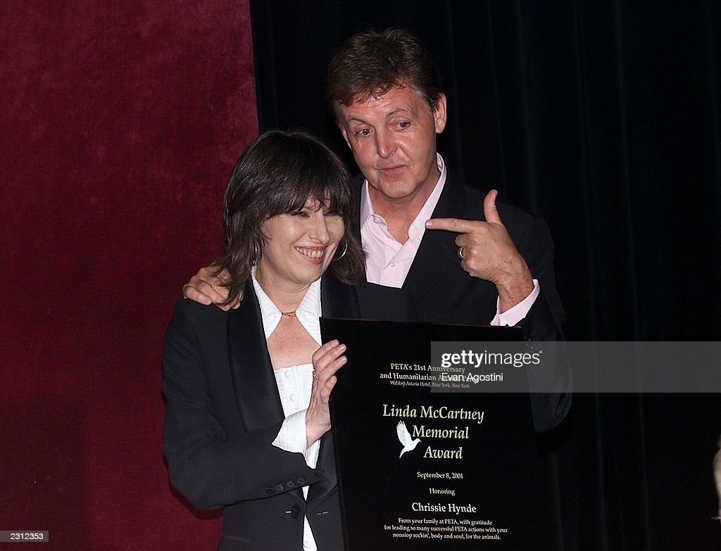 Chrissie Hynde Honored With The Linda McCartney Memorial Award Presented By Paul At PETAs
