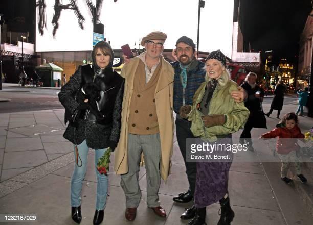 Chrissie Hynde, Joe Corre, Andreas Kronthaler and Dame Vivienne Westwood attend a short film screening to celebrate Dame Vivienne Westwood's 80th...