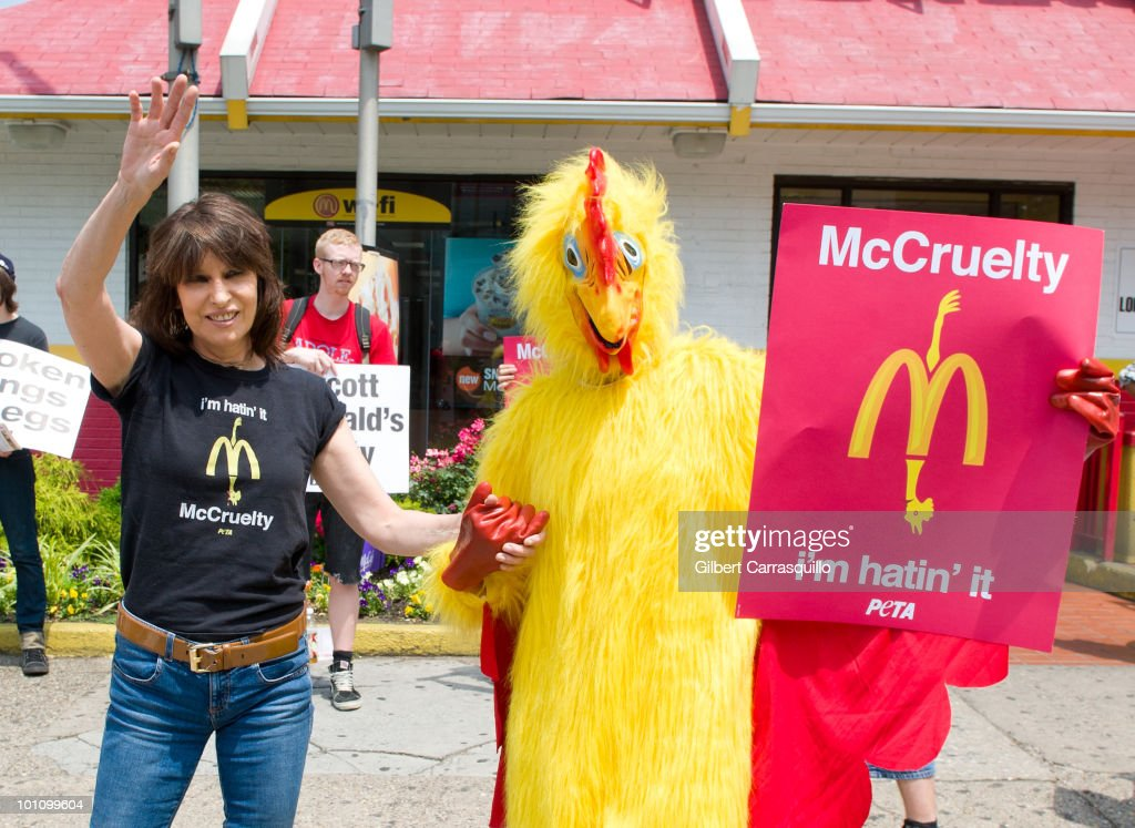 Chrissie Hynde kicks off PETA's ''I'm Hatin' It'' campaign outside a McDonald's on May 27, 2010 in Philadelphia, Pennsylvania.