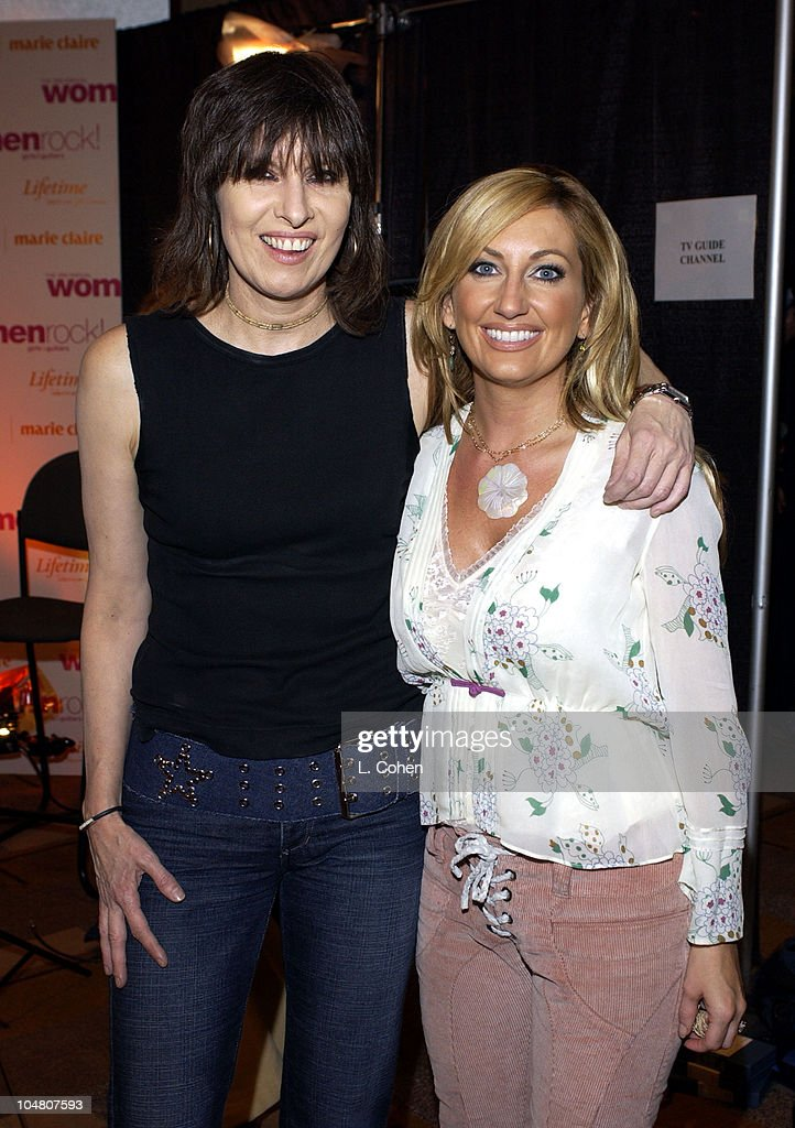 Chrissie Hynde & Lee Ann Womack during The 3rd Annual 'Women Rock! Girls & Guitars' Supporting the Stop Breast Cancer for Life Initiative - Press Room at The Kodak Theatre in Hollywood, California, United States.