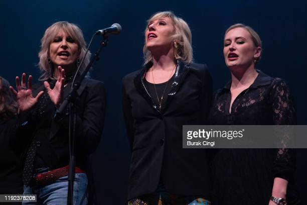 Chrissie Hynde Martha Wainwright and Kami Thompson perform at Rufus and Martha Wainwright's Not So Silent Night event at The Royal Festival Hall on...