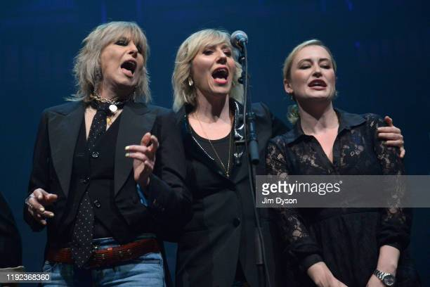 Chrissie Hynde Martha Wainwright and Kami Thompson perform during Rufus Martha Wainwright's 'A Not So Silent Night' at The Royal Festival Hall on...