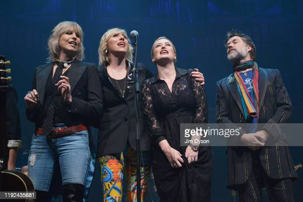 Chrissie Hynde Martha Wainwright Kami Thompson and Rufus Wainwright perform live on stage during Rufus Martha Wainwright's 'A Not So Silent Night' at...