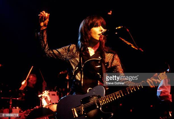 Chrissie Hynde of Pretenders performs at Irving Plaza, New York, May 24, 1994.