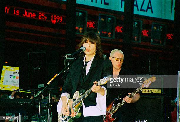 Chrissie Hynde of The Pretenders in performance 1999 New York