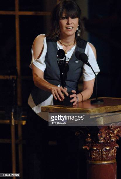 Chrissie Hynde of The Pretenders, inductee during 20th Annual Rock and Roll Hall of Fame Induction Ceremony - Show at Waldorf Astoria Hotel in New...