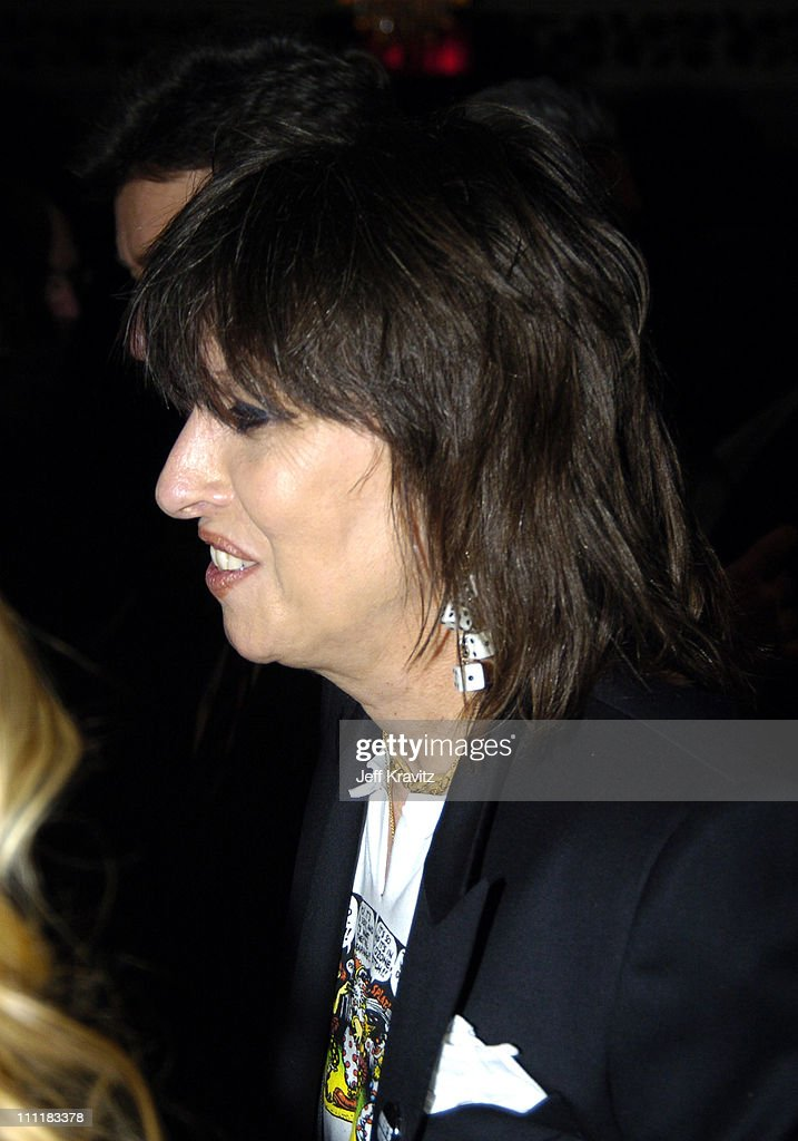 Chrissie Hynde of The Pretenders, inductee during 20th Annual Rock and Roll Hall of Fame Induction Ceremony - Audience and Backstage at Waldorf Astoria Hotel in New York City, New York, United States.