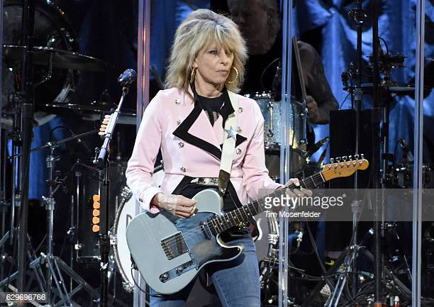 Chrissie Hynde of The Pretenders performs at Golden 1 Center on December 13 2016 in Sacramento California