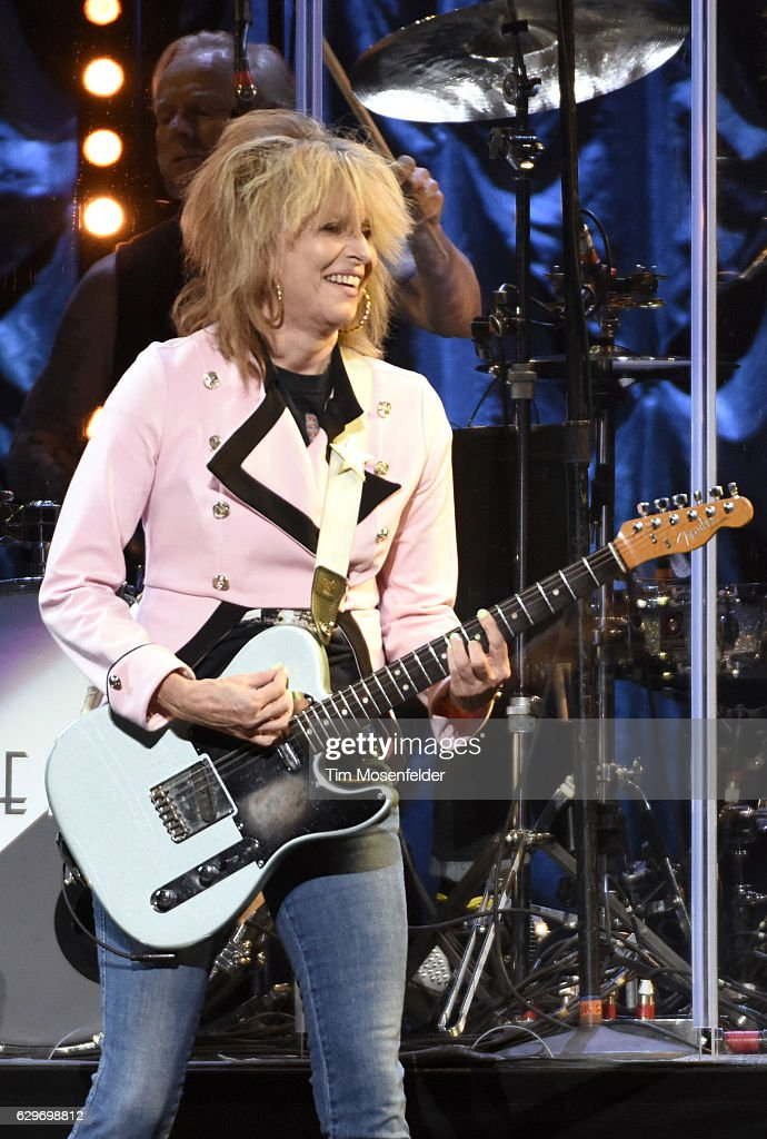 Chrissie Hynde of The Pretenders performs at Golden 1 Center on December 13, 2016 in Sacramento, California.