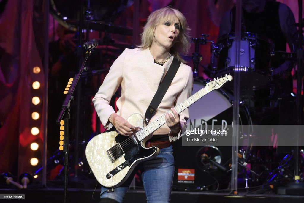 Chrissie Hynde of The Pretenders performs at The Masonic Auditorium on June 22, 2018 in San Francisco, California.