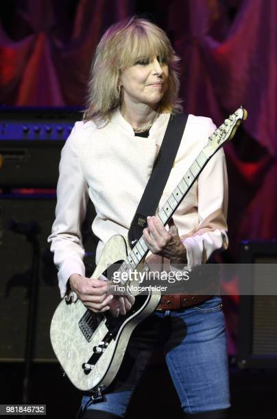 Chrissie Hynde of The Pretenders performs at The Masonic Auditorium on June 22 2018 in San Francisco California