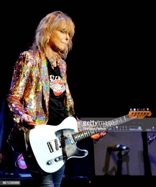 Chrissie Hynde of The Pretenders performs live on stage at O2 Apollo Manchester on October 13 2017 in Manchester England