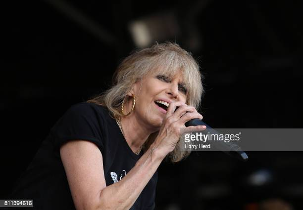 Chrissie Hynde of the Pretenders performs on Day 3 of Cornbury Festival at Great Tew Park on July 9 2017 in Oxford England
