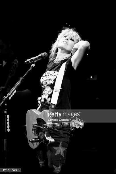 Chrissie Hynde of The Pretenders performs on stage at the Royal Albert Hall on 10 April 2017 in London, England.
