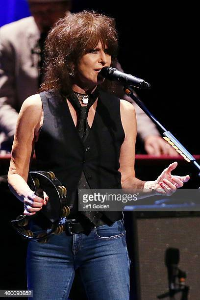 Chrissie Hynde performs in support of her 'Stockholm' release at the Pantages Theatre on December 6 2014 in Hollywood California
