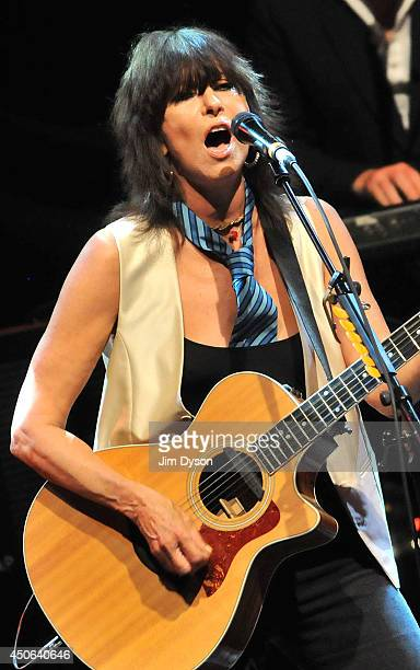 Chrissie Hynde performs live on stage for James Lavelle's Meltdown at the Royal Festival Hall on June 14 2014 in London United Kingdom