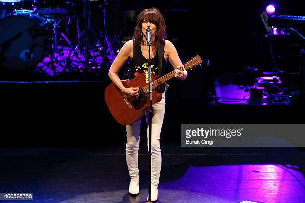 Chrissie Hynde performs on stage at KOKO on December 16 2014 in London United Kingdom