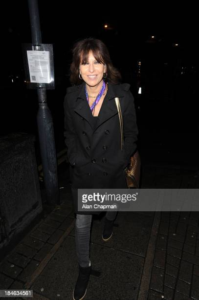 Chrissie Hynde sighting leaving the Apollo Theatre Hammersmith on October 14 2013 in London England