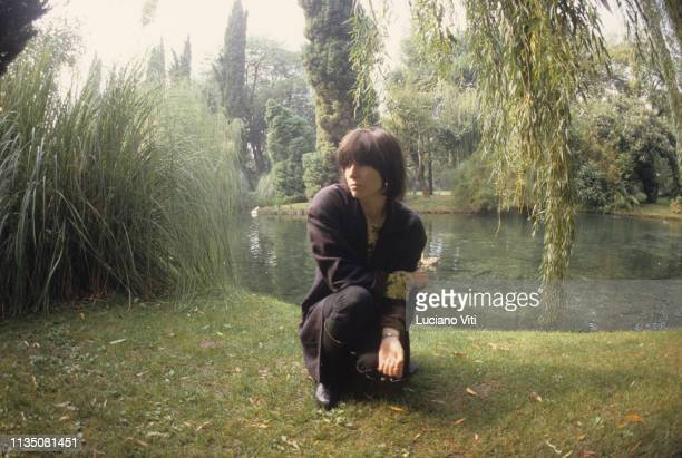 Chrissie Hynde, singer-songwriter leader of rock-new wave band The Pretenders, Lake Garda, Italy, 1988.